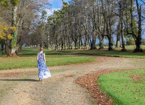 A bride in Hale Park drive