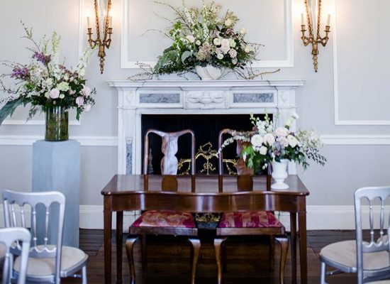 Close up of wedding ceremony table