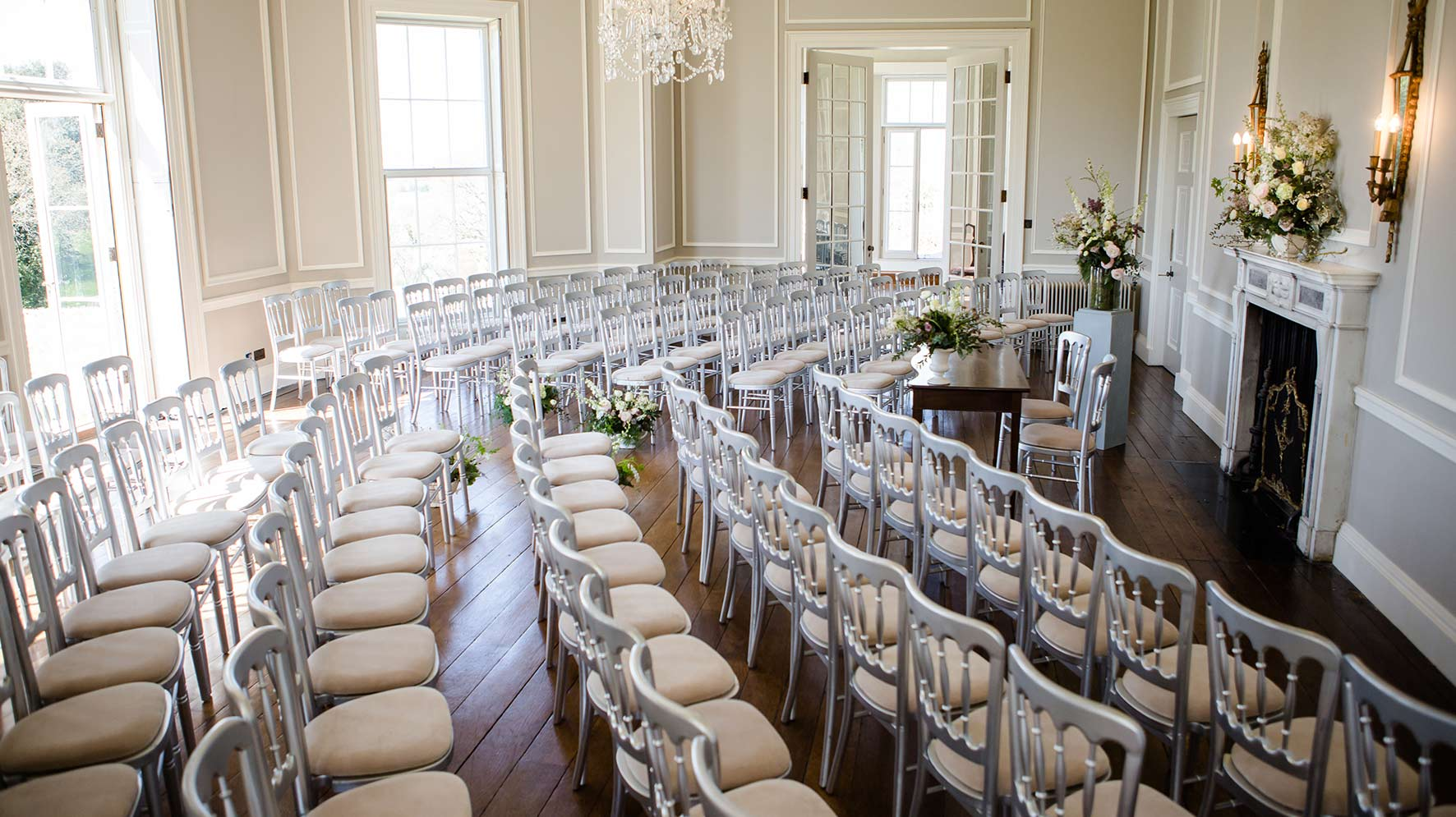 Hale Park House wedding ceremony and reception space