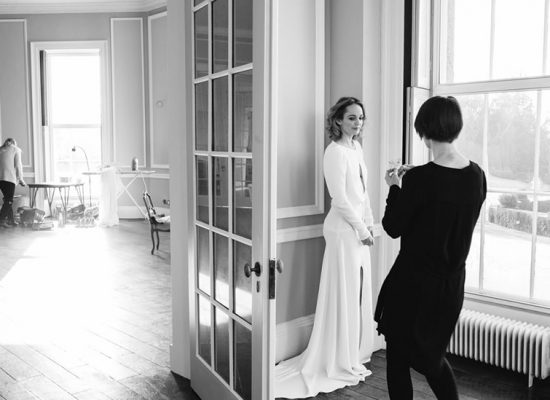 Styling a bride for her photoshoot