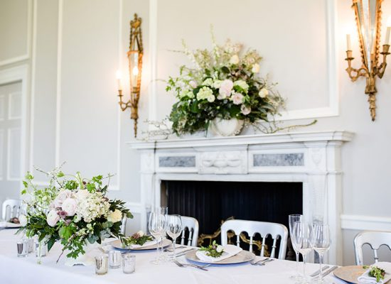 Hale Park Weddings top table with fireplace