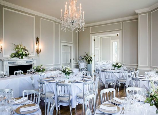 Hale Park Weddings top table and reception rooms