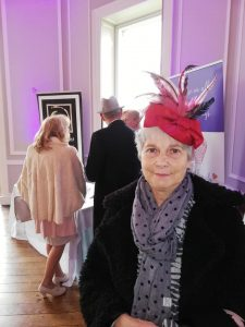 Hale Park Wedding Fair Nancy in rose hat