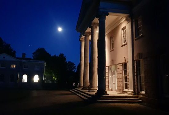 Hale Park portico for romantic moonlit weddings